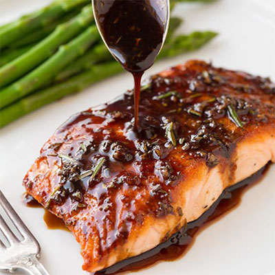 salmon-with-balsamic-sauce